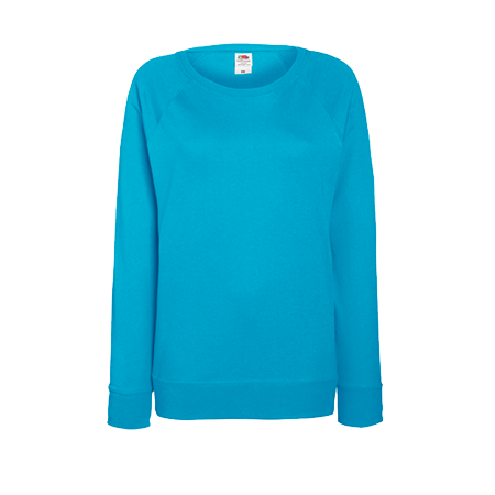 Lady Fit Lightweight Raglan Sweatshirt in azure