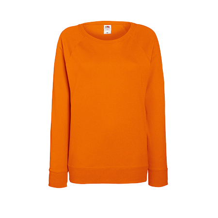 Lady Fit Lightweight Raglan Sweatshirt in orange