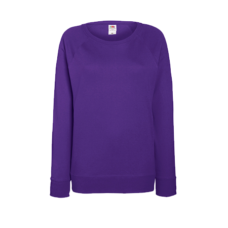 Lady Fit Lightweight Raglan Sweatshirt in purple