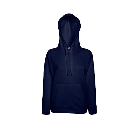 Lady Fit Lightweight Hooded Sweatshirt in deep-navy