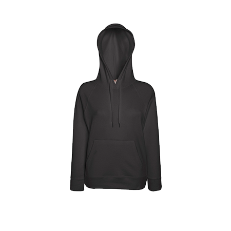 Lady Fit Lightweight Hooded Sweatshirt in light-graphite