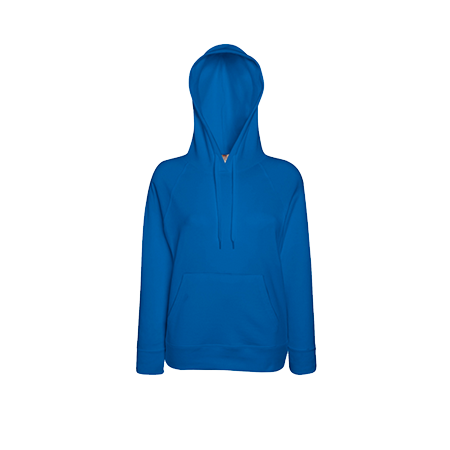 Lady Fit Lightweight Hooded Sweatshirt in royal-blue
