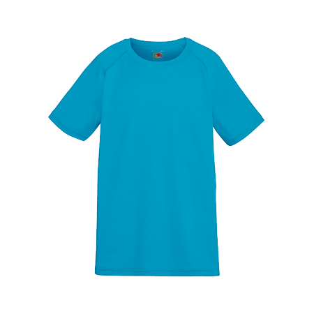 Kids Performance T-Shirt in azure