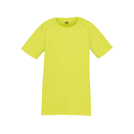 Kids Performance T-Shirt in bright-yellow