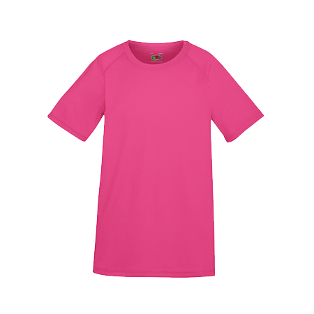 Kids Performance T-Shirt in fuchsia