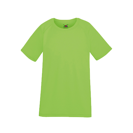 Kids Performance T-Shirt in lime