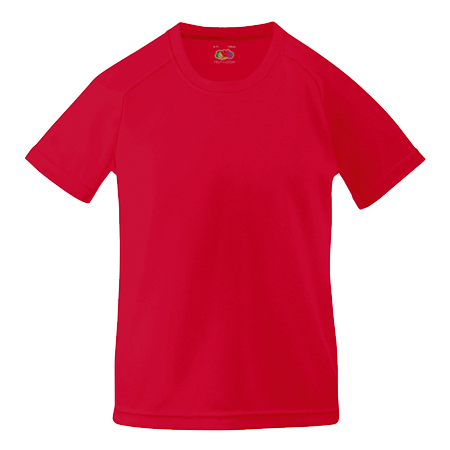 Kids Performance T-Shirt in red