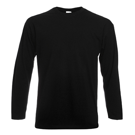 Long Sleeve Value T-Shirt in black