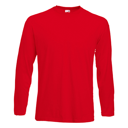 Long Sleeve Value T-Shirt in red