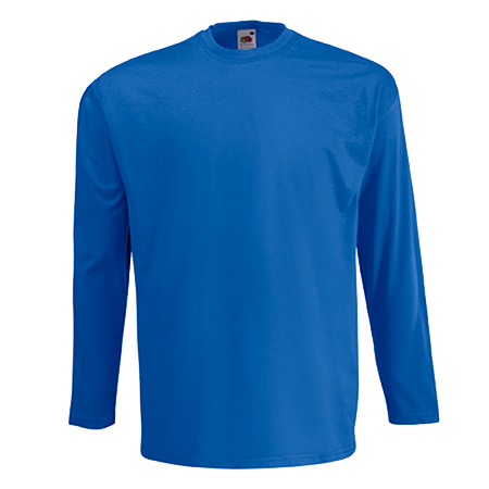 Long Sleeve Value T-Shirt in royal-blue