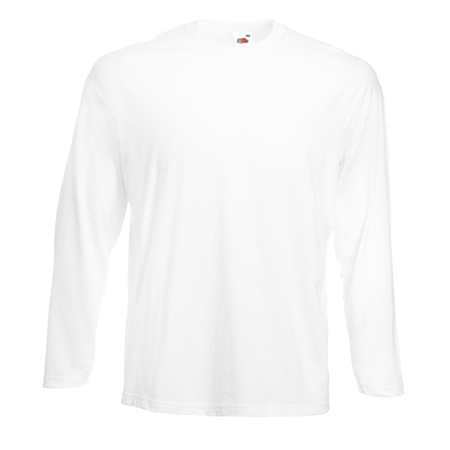 Long Sleeve Value T-Shirt in white