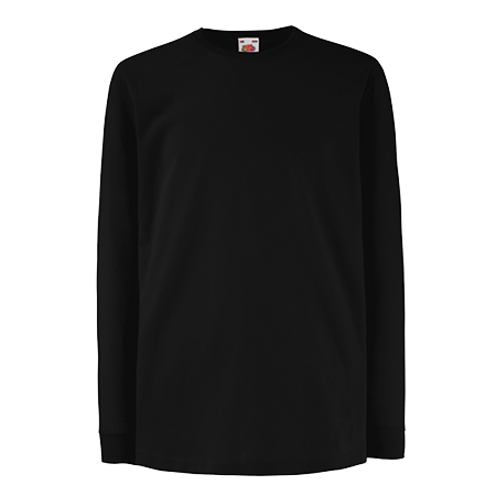 Kids Value Long Sleeve T-Shirt in black