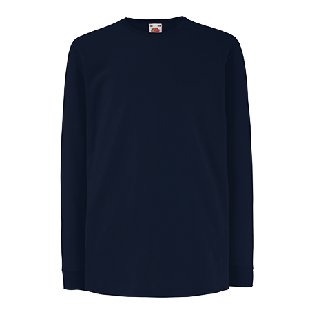 Kids Value Long Sleeve T-Shirt in deep-navy