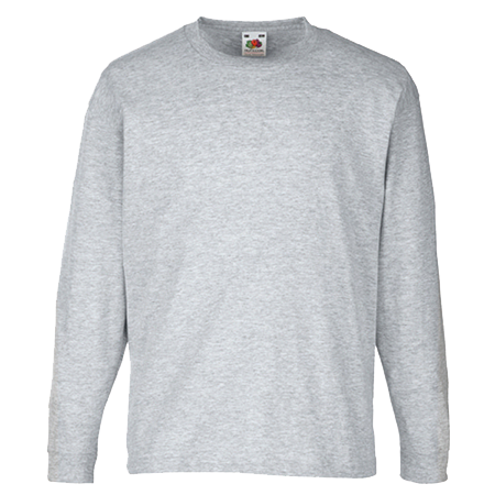 Kids Value Long Sleeve T-Shirt in heather-grey