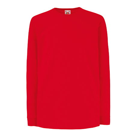 Kids Value Long Sleeve T-Shirt in red
