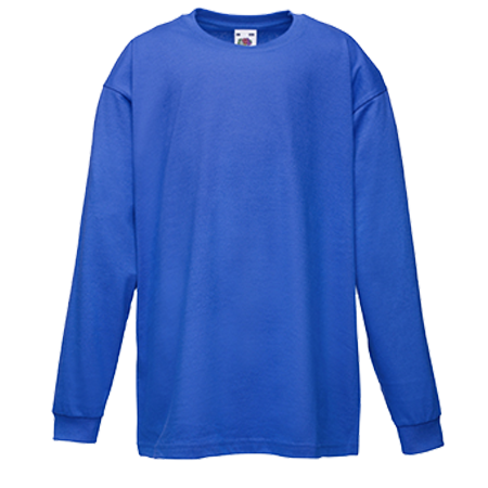 Kids Value Long Sleeve T-Shirt in royal-blue