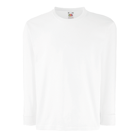 Kids Value Long Sleeve T-Shirt in white