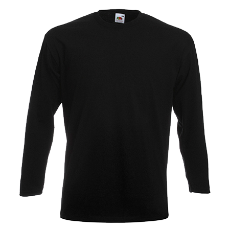 Long Sleeve Super Premium T-Shirt in black