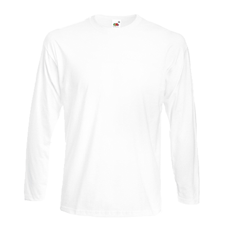 Long Sleeve Super Premium T-Shirt in white