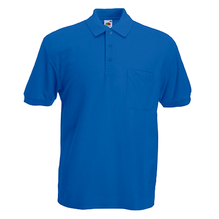 Pocket Pique Polo Shirt in royal-blue