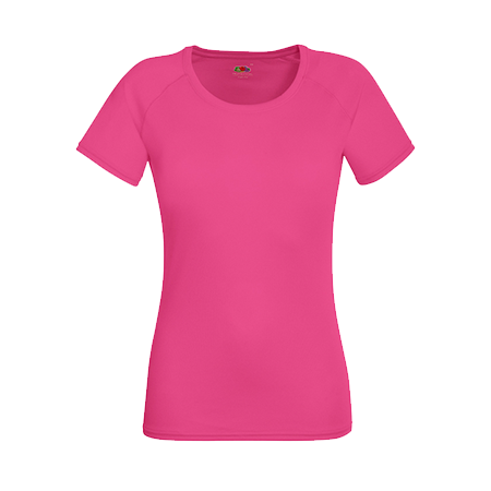 Lady Fit Performance T-Shirt in fuchsia