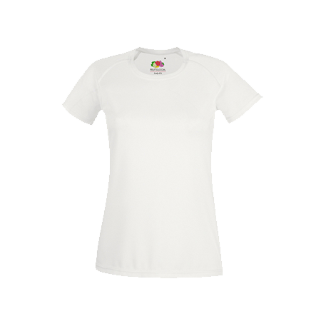 Lady Fit Performance T-Shirt in white