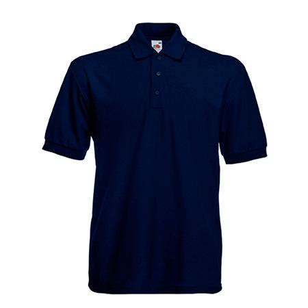 Poly Cotton Heavy Pique Polo Shirt in deep-navy