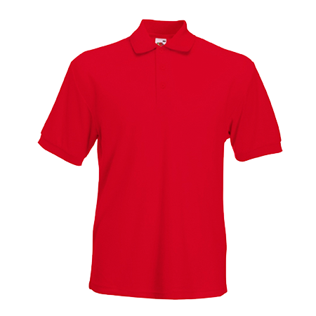 Poly Cotton Heavy Pique Polo Shirt in red
