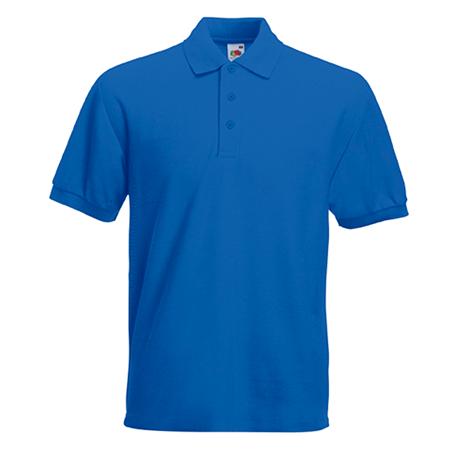 Poly Cotton Heavy Pique Polo Shirt in royal-blue