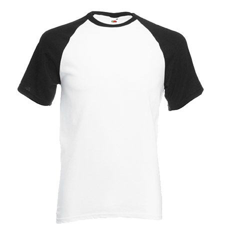 Contrast Baseball T-Shirt in white-with-black