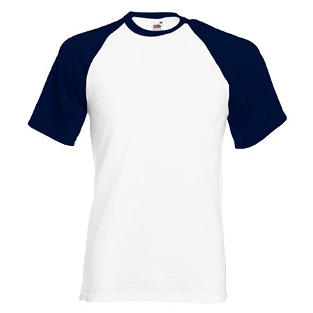 Contrast Baseball T-Shirt in white-with-deep-navy