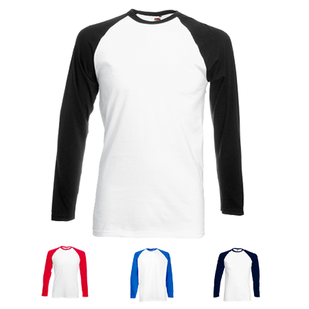 Contrast Long Sleeve Baseball T-Shirt in