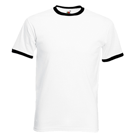 Contrast Ringer T-Shirt in white-with-black