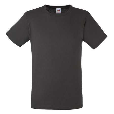 Fitted Value T-Shirt in charcoal