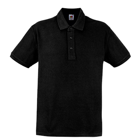 Heavy Pique Polo Shirt in black