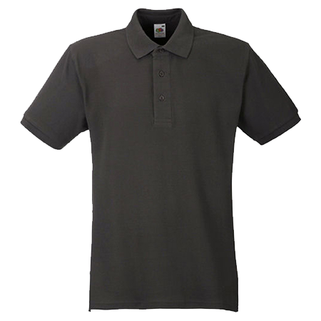 Heavy Pique Polo Shirt in charcoal