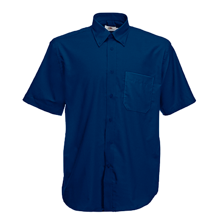 Short Sleeve Oxford Shirt in navy