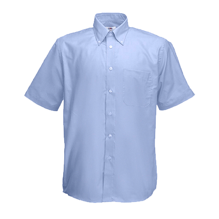 Short Sleeve Oxford Shirt in oxford-blue