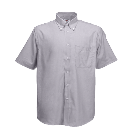 Short Sleeve Oxford Shirt in oxford-grey