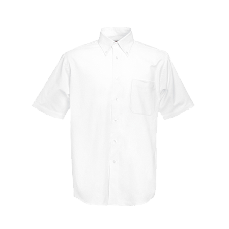 Short Sleeve Oxford Shirt in white