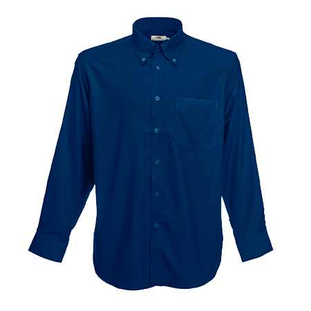 Long Sleeve Oxford Shirt in navy