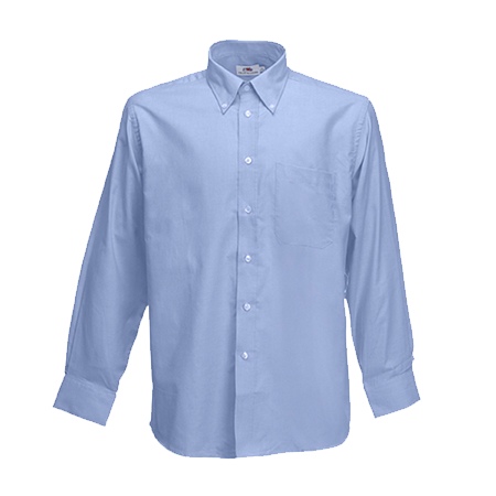 Long Sleeve Oxford Shirt in oxford-blue