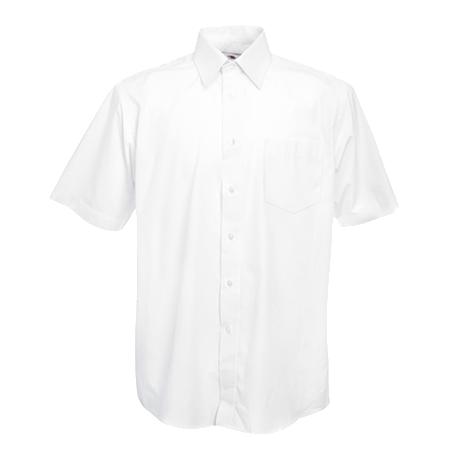 Short Sleeve Poplin Shirt in white