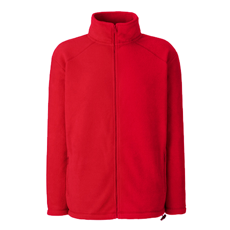 Outdoor Fleece Jacket in red