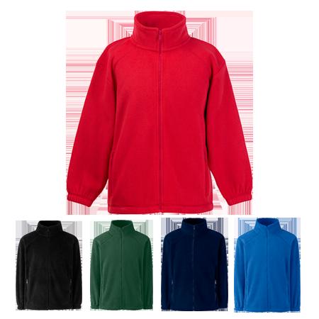 Kids Outdoor Fleece Jacket in royal-blue
