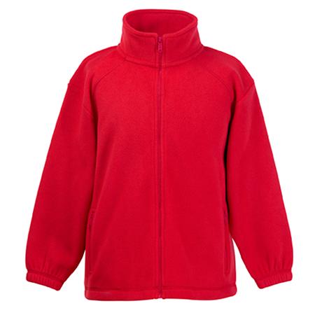 Kids Outdoor Fleece Jacket in red