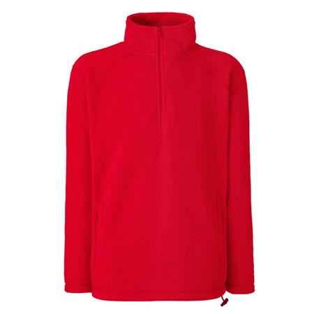 Zip Neck Outdoor Fleece in red