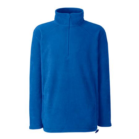 Zip Neck Outdoor Fleece in royal-blue