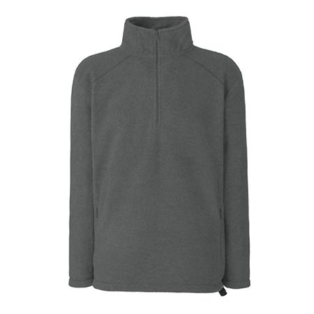 Zip Neck Outdoor Fleece in smoke