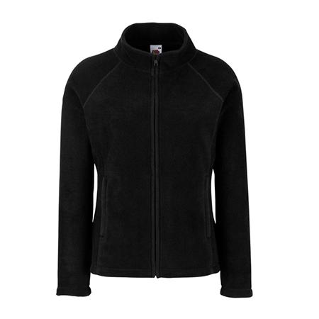Lady Fit Outdoor Fleece Jacket in black